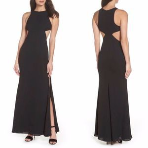 Fame and Partners Maxi Black Gown 104